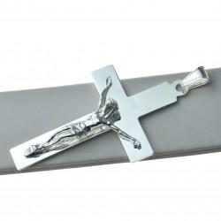 Duży Krzyżyk srebrny z Panem Jezusem Srebro 925 KR026