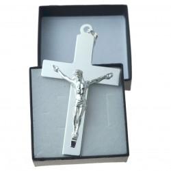 Ogromny Krzyżyk srebrny z Panem Jezusem Srebro 925 KR027