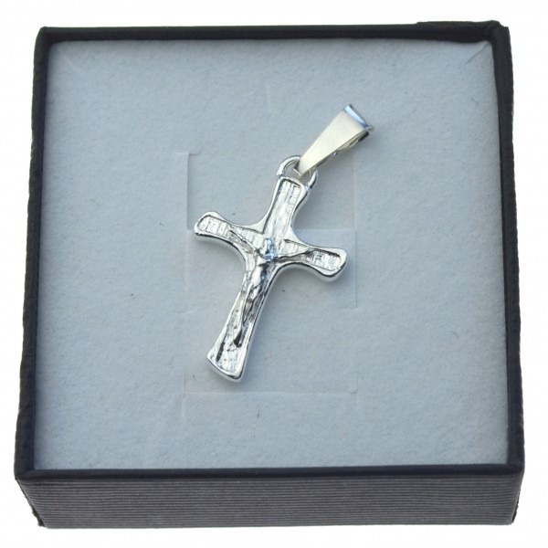 Męski Krzyżyk srebrny z Panem Jezusem Srebro 925 KR028