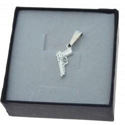 Zawieszka do łańcuszka pistolet beretta srebro próby 925 ZAW067