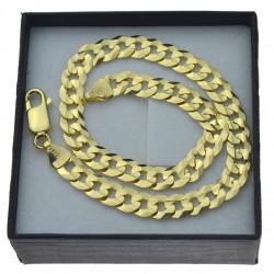 Męska złota bransoletka pancerka złoto pr.585 23cm szer. 6,5mm
