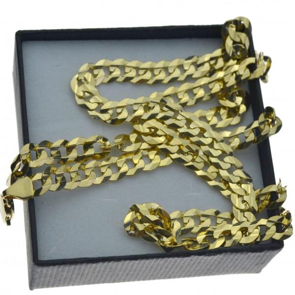 Złoty męski łańcuszek pancerka pełny 55cm 6mm złoto pr.333