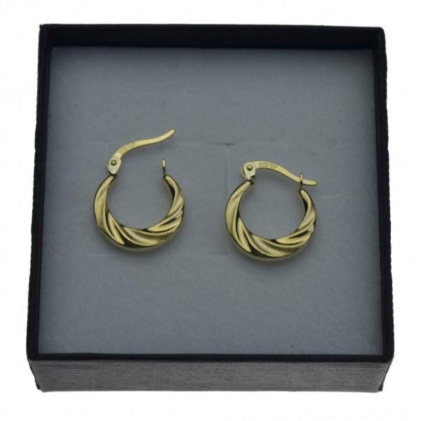 Kolczyki złote damskie koła 1,5cm złoto 8k 333