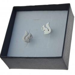 Kolczyki srebrne wiewiórki srebrne sztyfty Srebro 925 kol068