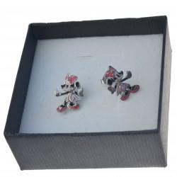 Kolczyki srebrne myszki mini srebrne sztyfty Srebro 925 kol070
