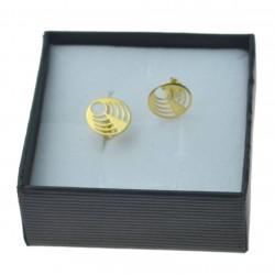 Kolczyki złote kółko wycinane sztyfty złoto 333