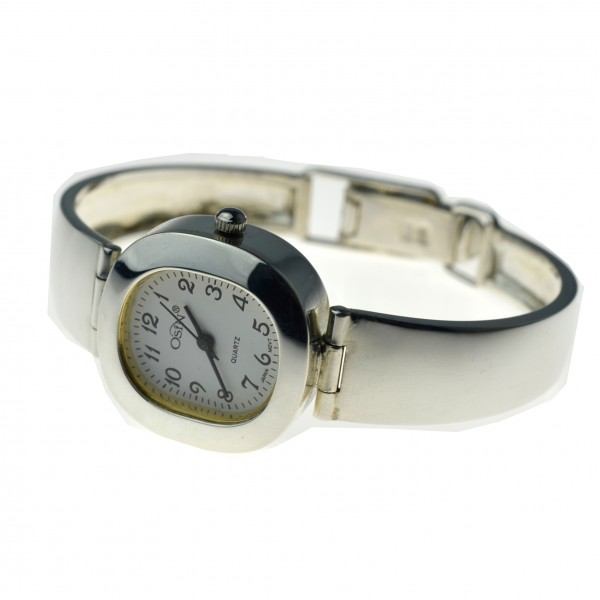 Srebrny Zegarek Damski  biała tarcz Srebro pr.925 zeg034