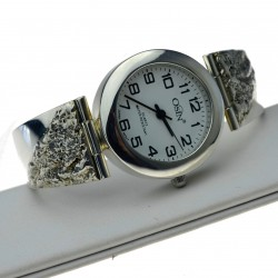 Zegarek ze srebra Damski okrągła tarcz Srebro pr.925 zeg021