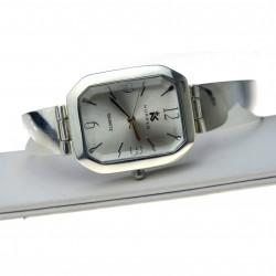 Zegarek Damski srebrny ze srebrną tarczą prostokątną Srebro pr.925 zeg016