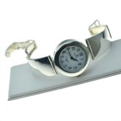 Zegarek Damski srebrny okrągły ze srebrną tarczą Srebro pr.925 zeg016