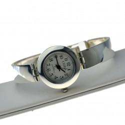 Zegarek Damski srebrny zgrabny mały okrągły tarczą Srebro pr.925 zeg011