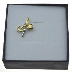 Złota zawieszka serce klucz kotwica Złoto pr.333 ZAW044