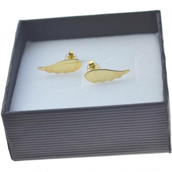 Kolczyki Złote skrzydło Anioła Złoto pr.333 sztyfty