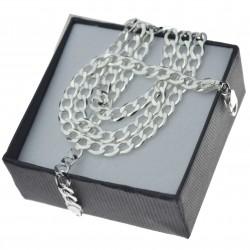 Łańcuszek srebrny pancerka 50cm 5mm srebro 925 PANOPEN