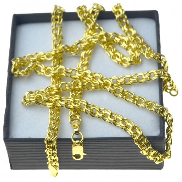 Złoty męski łańcuszek garibaldi 60cmcm 4,5mm złoto pr.585 LAN014
