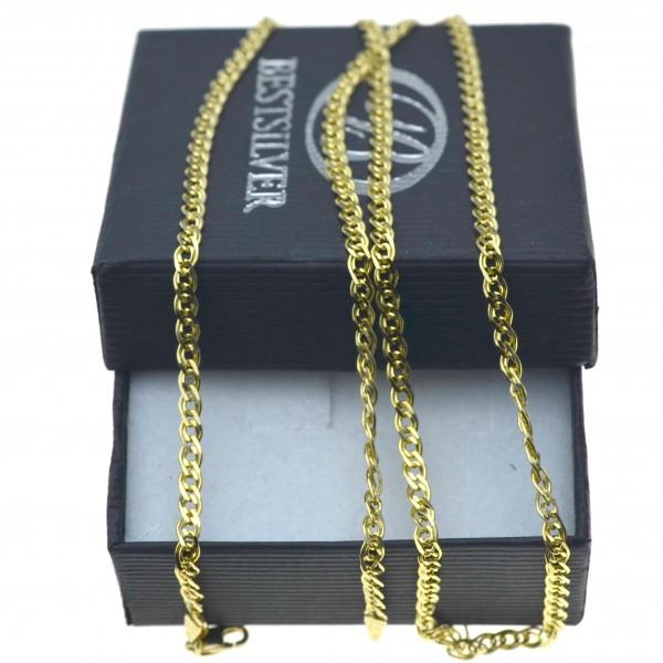 Złoty naszyjnik nonna 55cm 3mm złoto 585 LAN017