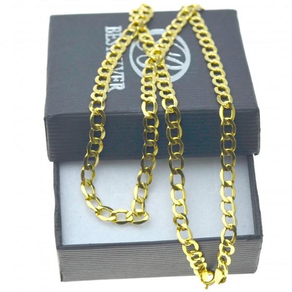 Łańcuszek złoty pancerka 55cm 4,5mm 585 LAN021