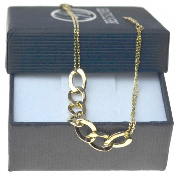 Bransoletka złota damska 19cm oczka pancerki złoto 333 BRZ041