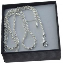 Łańcuszek srebrny Korda 2,5mm 50cm srebro 925 LAN024