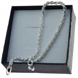Bransoletka srebrna damska korda 3mm 19cm BRAN002