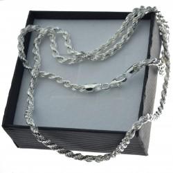 Łańcuszek srebrny Korda 3mm 50cm srebro 925 LAN027