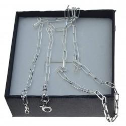 Łańcuszek srebrny damski spinacz 3mm Srebro 925 45cm LAN034