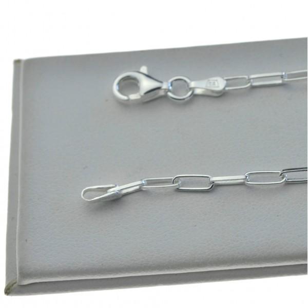 Bransoletka srebrna damska spinacz 3mm 19cm BRAN006