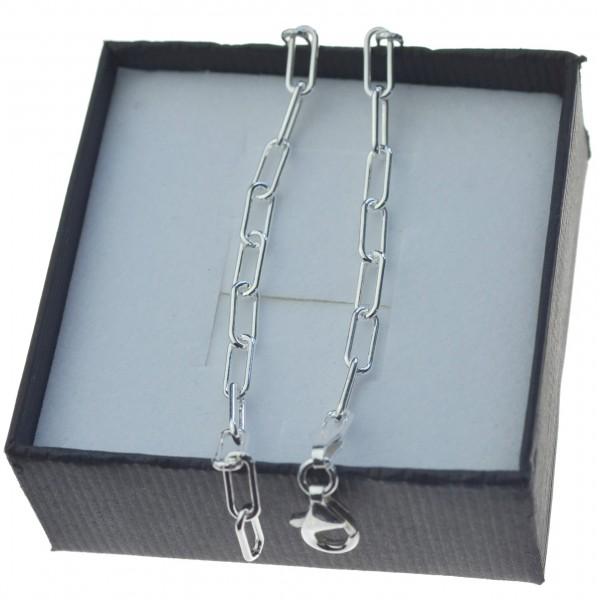 Bransoletka srebrna damska spinacz 4mm 19cm BRAN007