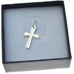 Krzyżyk srebrny gładki srebro próby 925 KR012