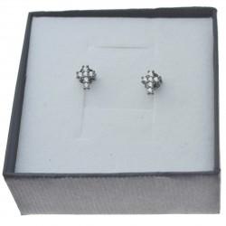 Kolczyki srebrne krzyżyki czarne z cyrkoniami Srebro 925 kol091