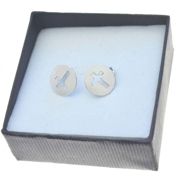 Kolczyki srebrne krzyżyki wycinane celebrytki Srebro 925 kol092