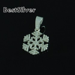 Wisiorek Srebrny Śnieżynka Płatek Śniegu Damski